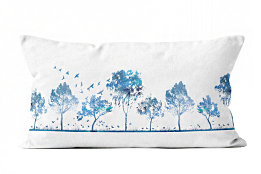 "16""x36"" Blue Trees"