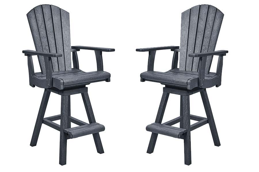 Adirondack Pub Chair & Pub Swivel Chair in Slate Grey