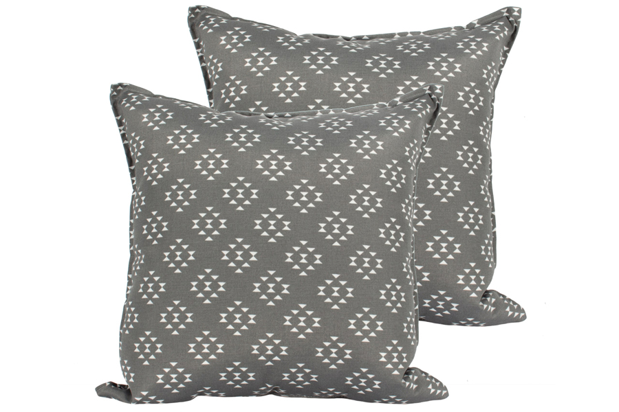 Charcoal Geo Pillows