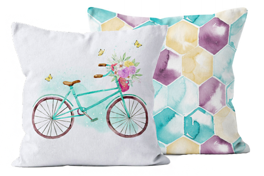 Ecotopia Bicycle Pillows