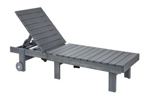 Adirondack Chaise Lounge in Slate Grey