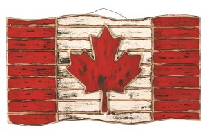 LED Canada Flag Wood