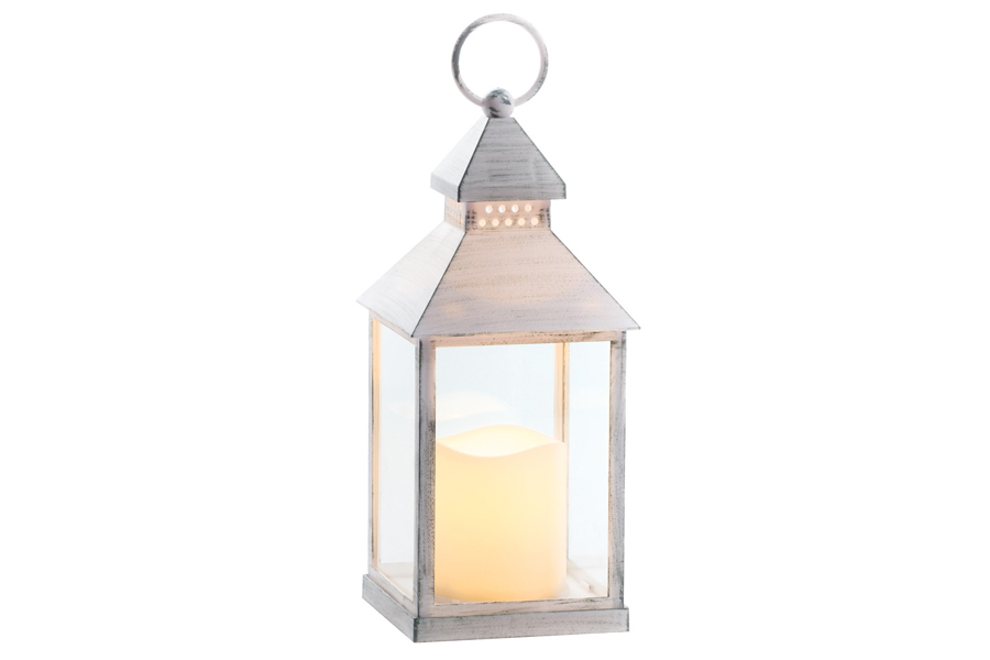 LED Lantern White Pillar