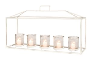 Large Frame Lantern Rectangle 5 Cup White