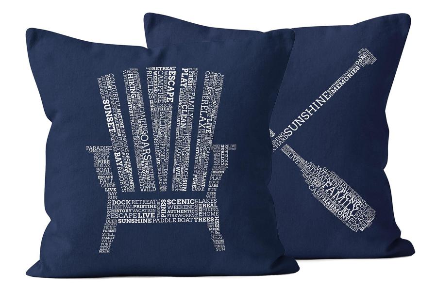 Muskoka Chair Paddles Navy Pillows