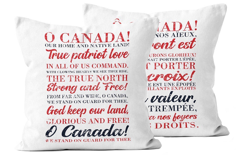 Oh Canada Pillow Double Sided