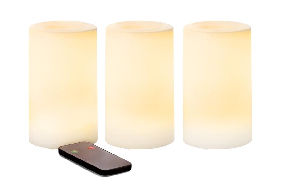 Outdoor Pillar Candles 3 Pack