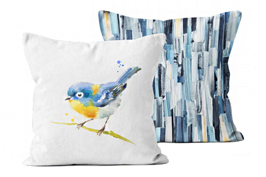 17″x17″ Songbird/Bluetopia