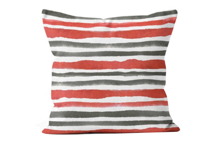 20″x20″ Tropical Heat Stripe Sunset