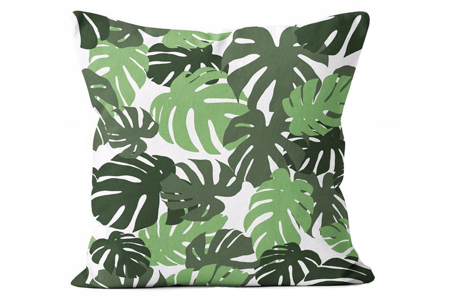 "The Urban Oasis Tropical Ferns Square Pillow brings a lush, tropical energy to your outdoor dining/deep seating area. This square pillow measures 24"" x 24""."
