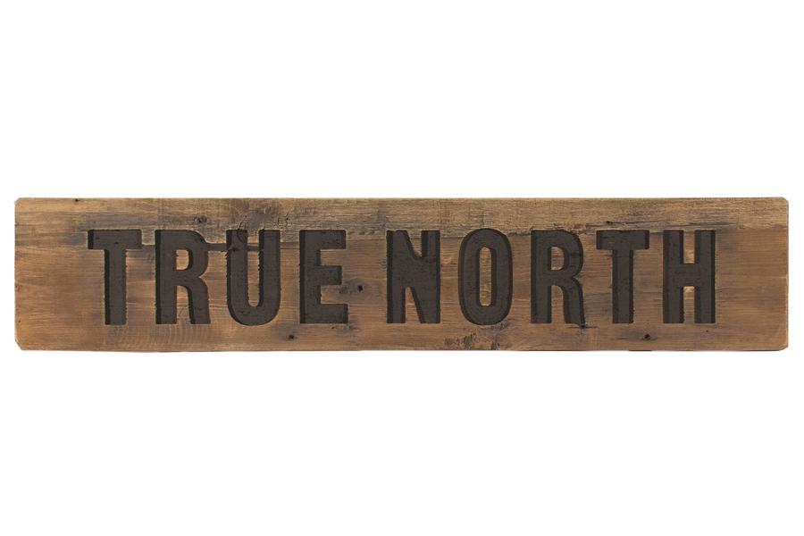 Wall Art True North Wood