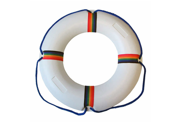 "21"" Swim Ring In Blow-Molded Plastic"
