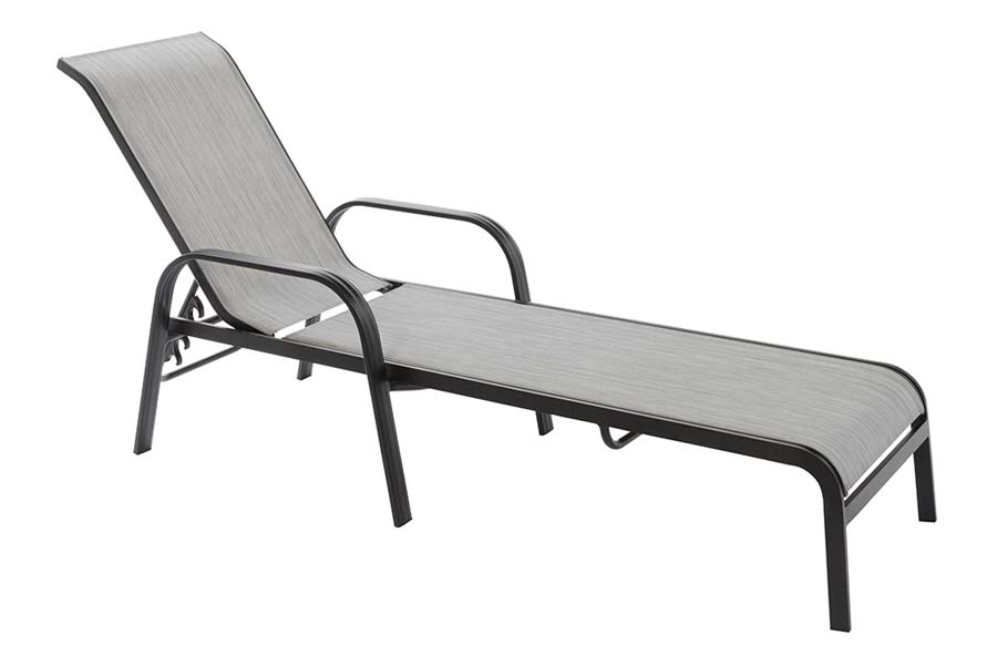 Grey Sling Chaise Lounge