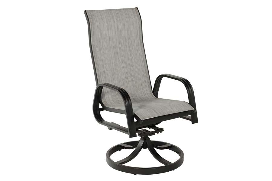 Grey Swivel Dining Chair