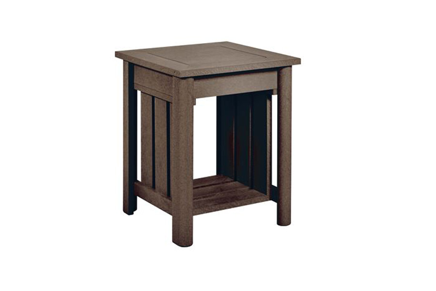 "19"" Square End Table Chocolate"