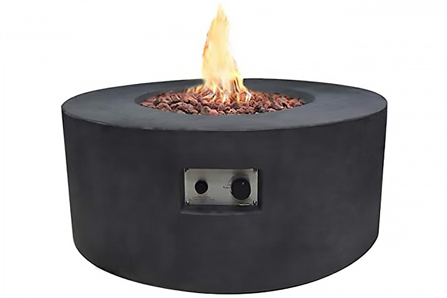 "34"" Round Venice Fire Table Propane"