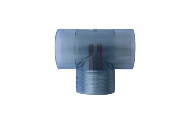 2″ PVC Clear Tee
