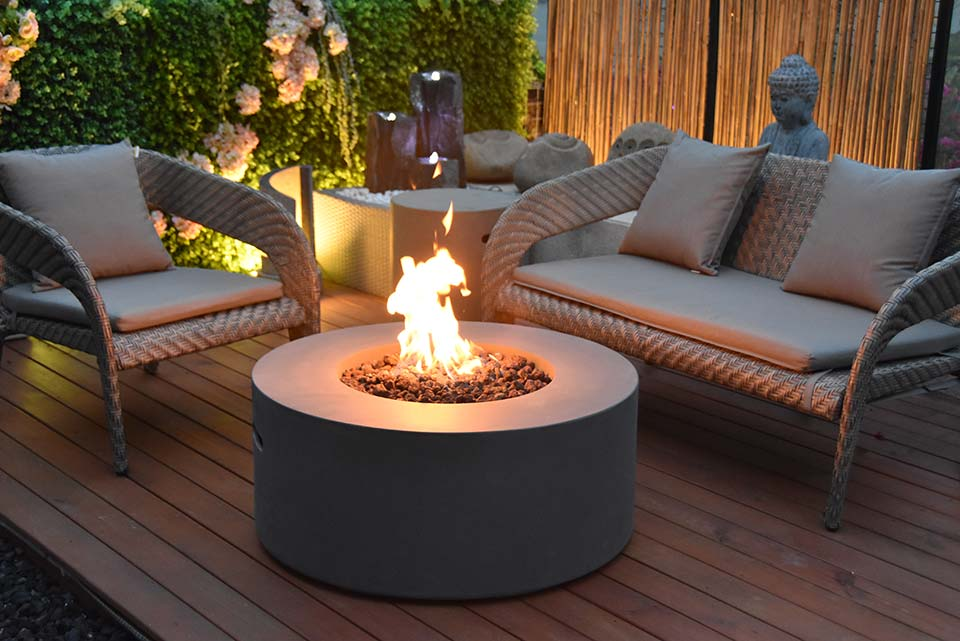 34″ Round Venice Fire Table Propane