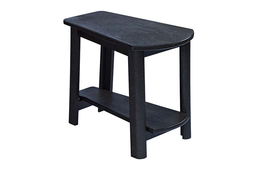 25″ x 17″ Addy Side Table Black