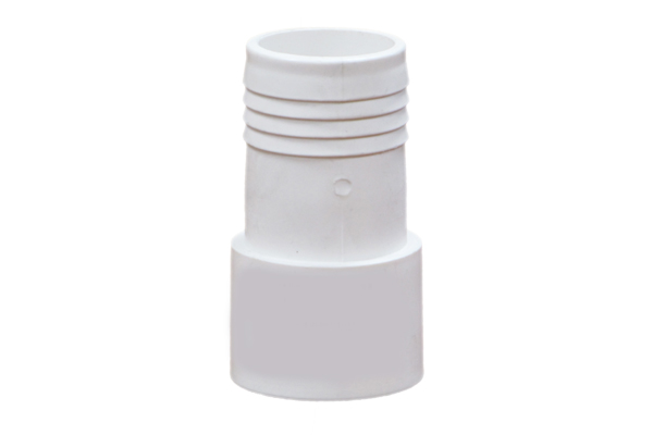PVC SCH 40, 1 1/2″ Socket Male Insert (SPIG) X 1 1/2″ Barbed