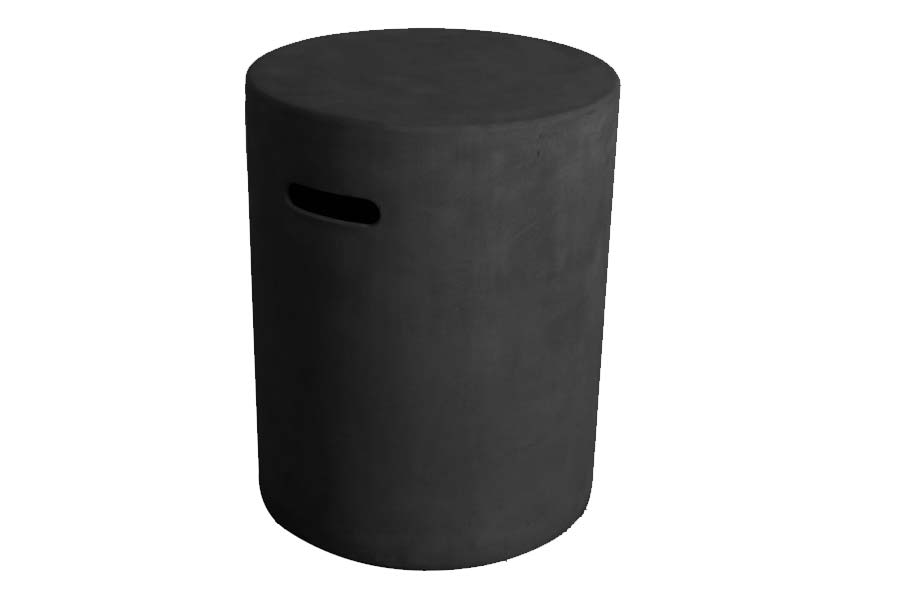 Round Tank Cover Black