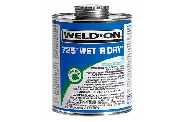 IPS 725 Wet R Dry Glue 1/4 Pint Blue
