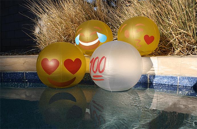 SolarGLO Solar Light Floating Emoji