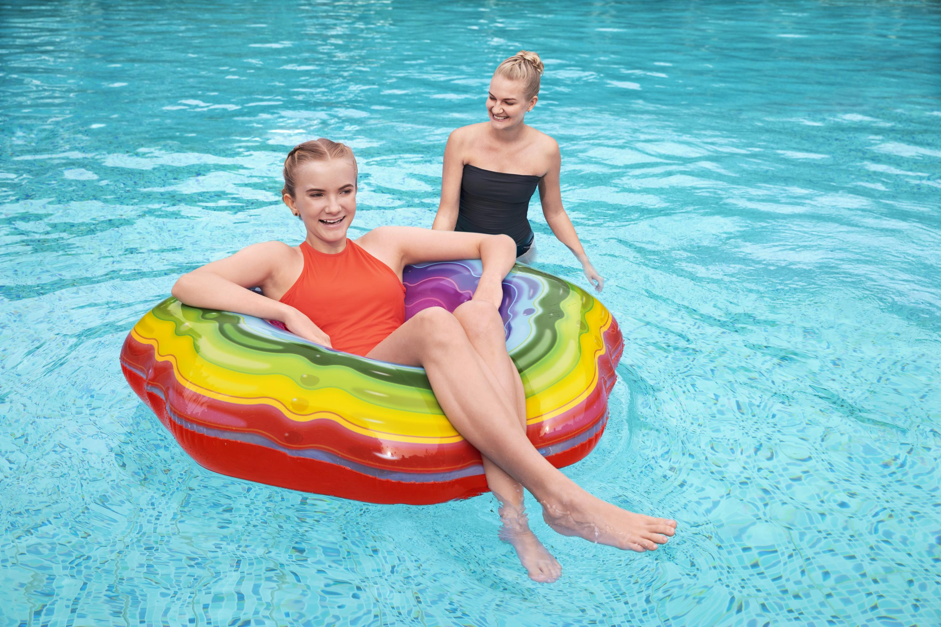 Rainbow Ribbon Swim Tube