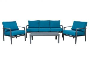 Pablo Deep Seating Teal Grey