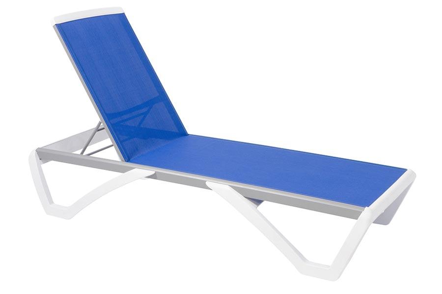Paloma Chaise Longue - Blue