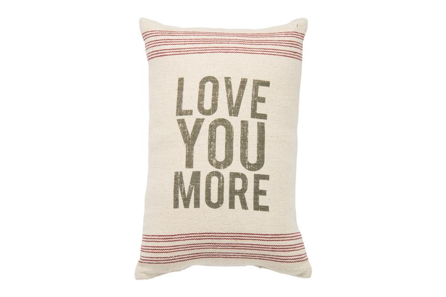 Love You More Linen Pillow