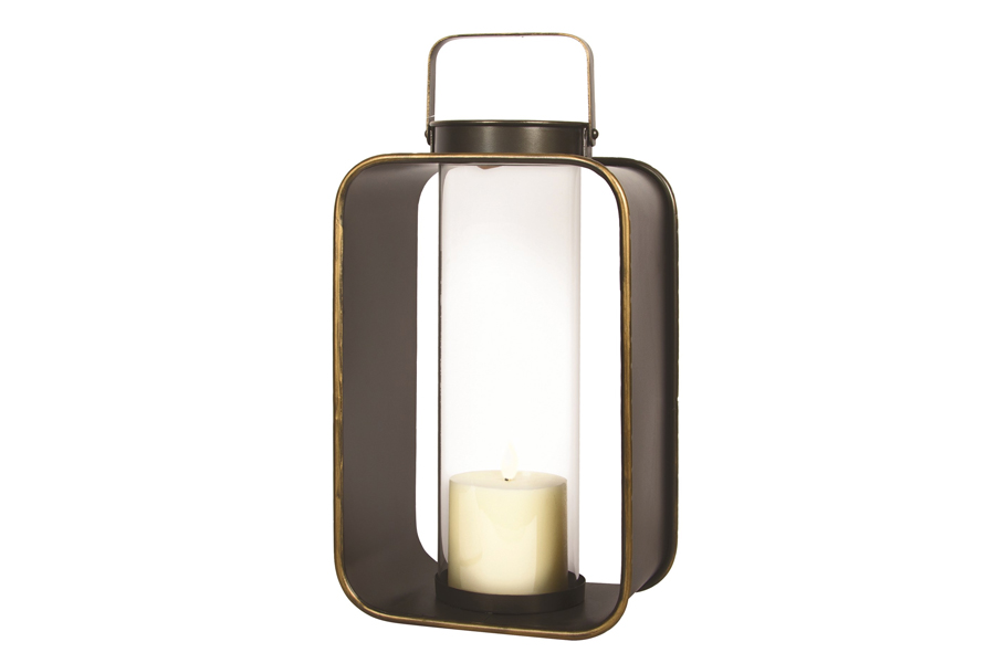 10″ x 7″ Black With Gold Candleholder