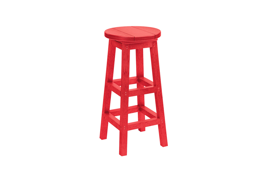 Backless Bar Stool Red