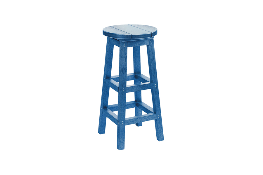 Backless Bar Stool Blue