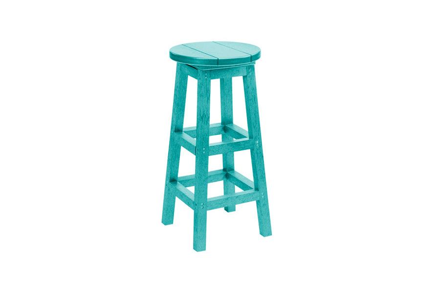 Backless Bar Stool Turquoise