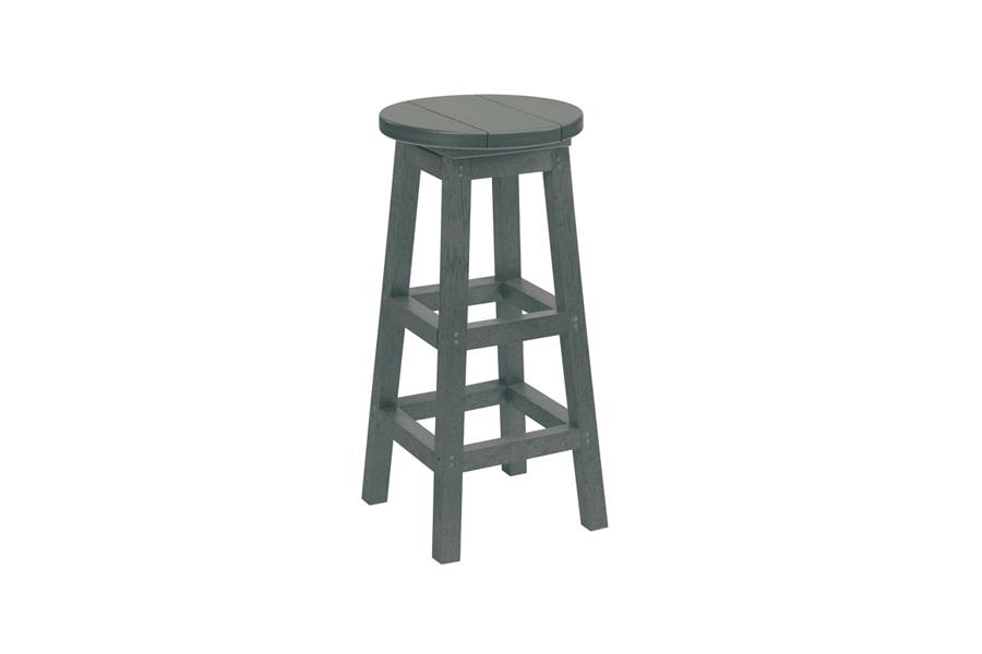 Backless Bar Stool Slate Grey