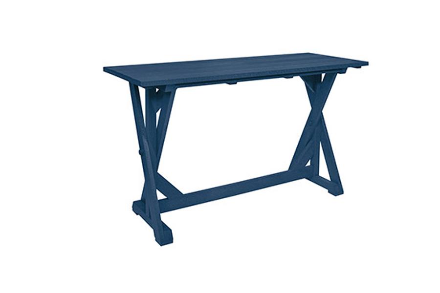 28″ x 72″ x 41″ Harvest Bar Table Navy