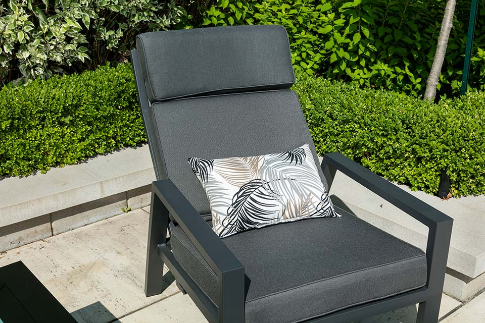 Reclining Chair With Ottoman Dark Grey
