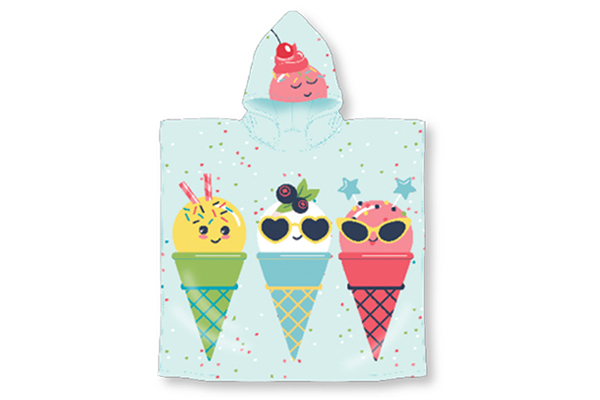 Ice Cream Hooded Pool Towel