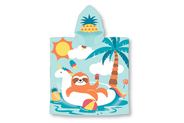 Sloths Hooded Pool Towel