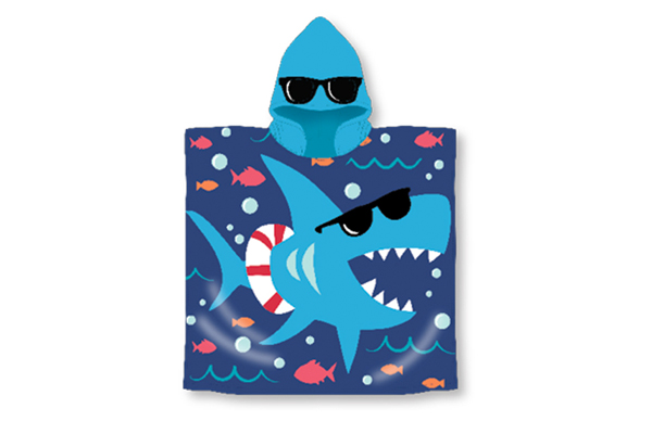 Shark Hooded Pool Towel