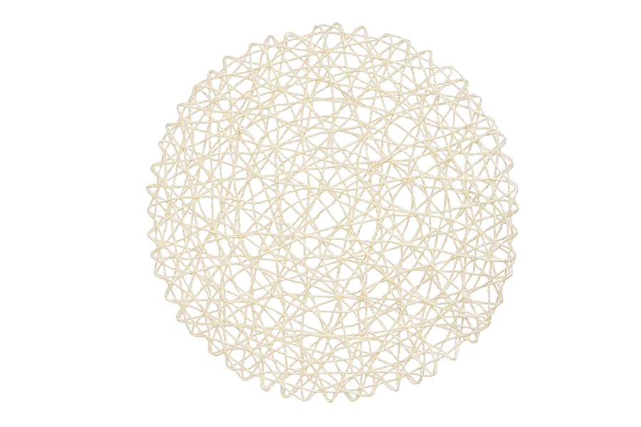 White Round Paperstring Placemat