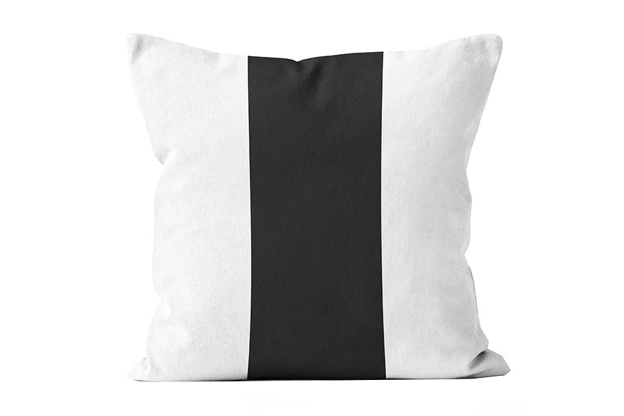 FAC-HHG2102BK-wide-black-stripe-pillow