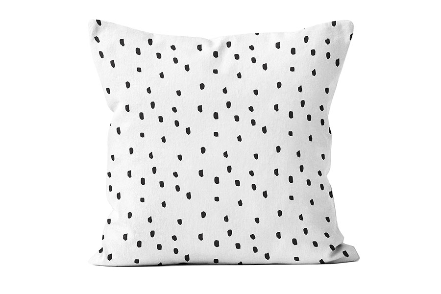 FAC-HHG2133BK-black-polka-dot-pillow