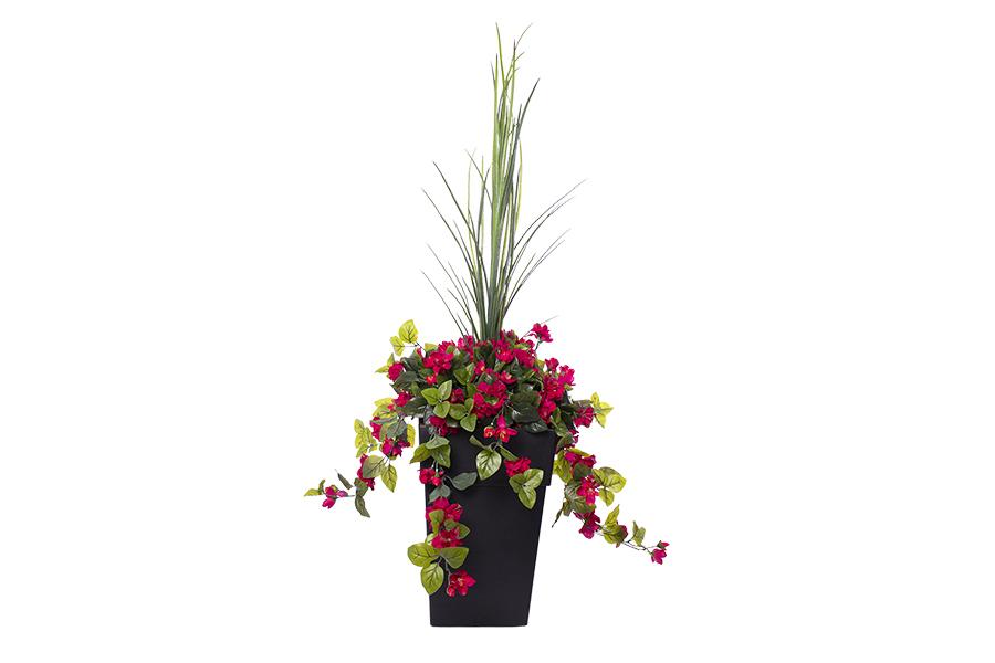 3'3″ Outdoor Planter Pink Azalea Flowers
