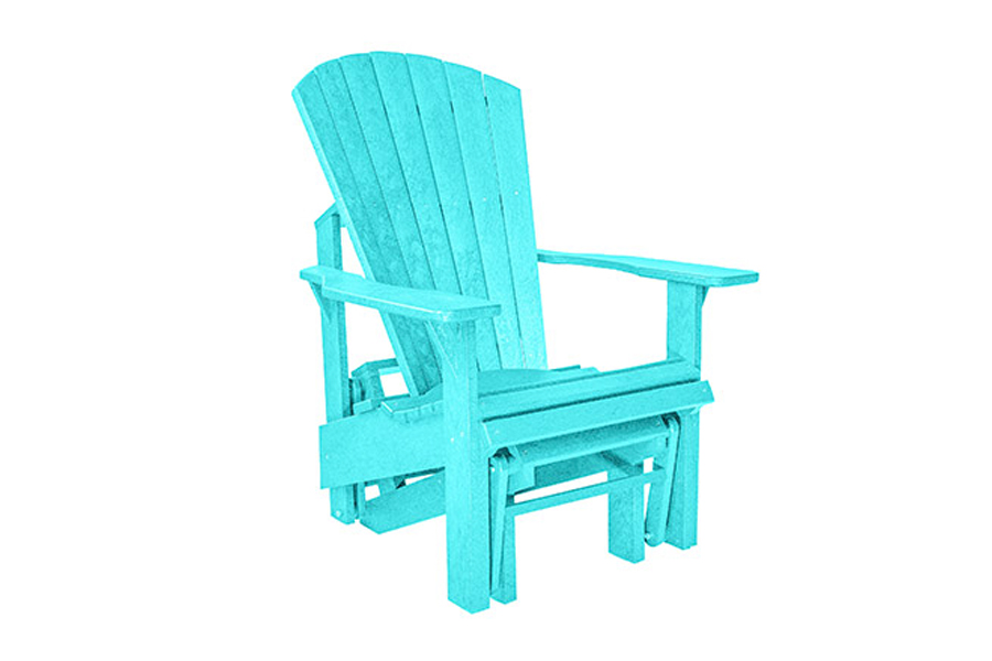 Single Gliding Chair – Turquoise
