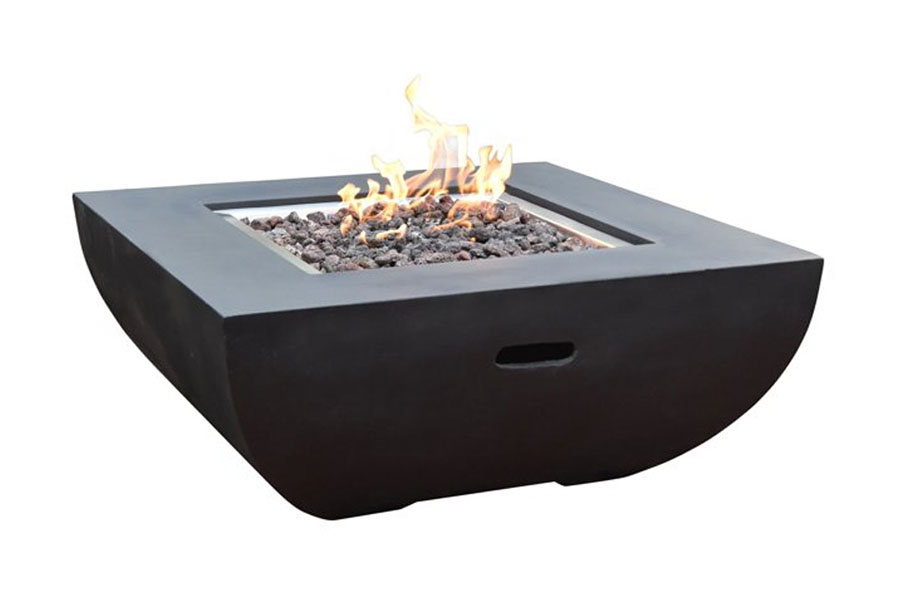 "34"" Square Aurora Fire Table Propane"