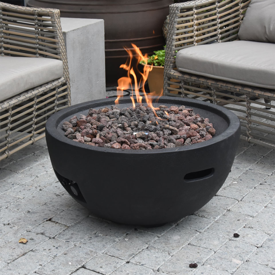 26″ Round Jefferson Fire Bowl NG