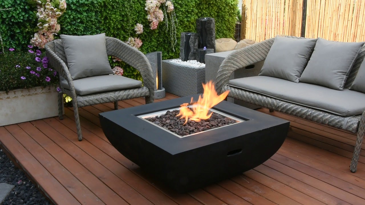 34″ Square Aurora Fire Table NG