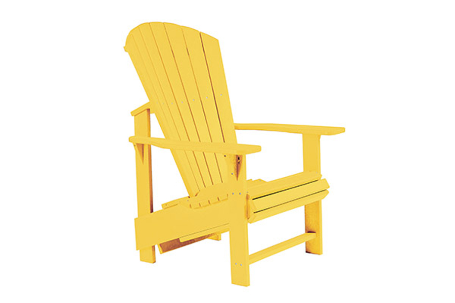 Upright Chair – Yellow